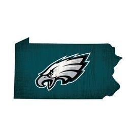 FAN CREATIONS Philadelphia Eagles Team Logo State Sign