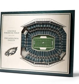 YOU THE FAN Philadelphia Eagles 5-Layer 3D Stadium Wall Art