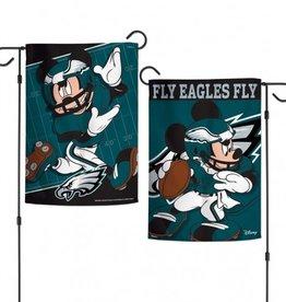 "WINCRAFT Philadelphia Eagles Disney Mickey Mouse 12.5"" x 18"" Garden Flag"
