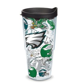 Philadelphia Eagles 24oz Tervis All Over Print Tumbler