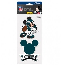 WINCRAFT Philadelphia Eagles Set of Two DISNEY 4x4 Perfect Cut Decals