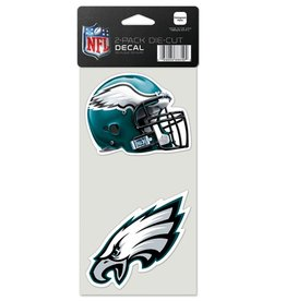 Philadelphia Eagles Set of Two 4x4 Perfect Cut Decals