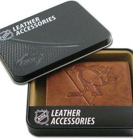 Pittsburgh Penguins Genuine Leather Vintage Billfold Wallet