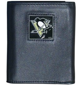 Pittsburgh Penguins Executive Black Leather Trifold Wallet