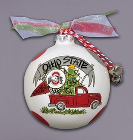 Ohio State Buckeyes Holiday Tree Truck Ornament