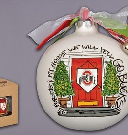 Ohio State Buckeyes My House Ornament