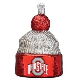 OLD WORLD CHRISTMAS Ohio State Buckeyes Beanie Ornament