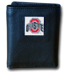 Ohio State Buckeyes Executive Black Leather Trifold Wallet