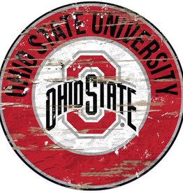 FAN CREATIONS Ohio State Buckeyes Round State Sign