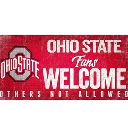 FAN CREATIONS Ohio State Buckeyes Fans Welcome Sign