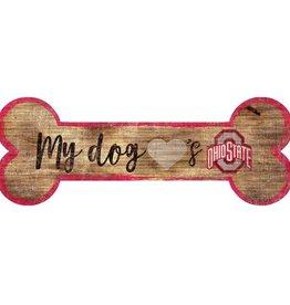FAN CREATIONS Ohio State Buckeyes Dog Bone Sign
