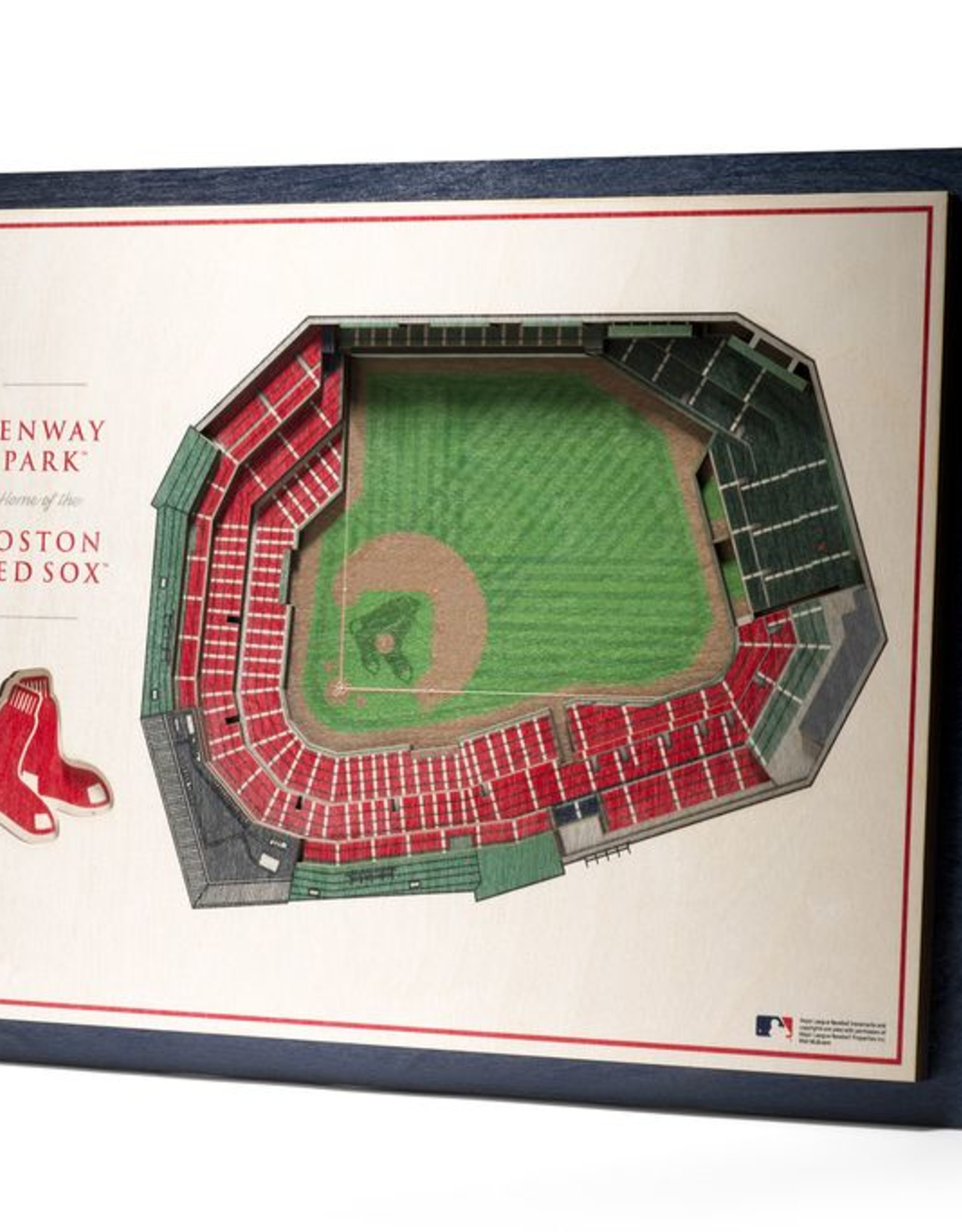 YOU THE FAN Boston Red Sox 5-Layer 3D Stadium Wall Art