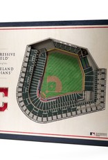 YOU THE FAN Cleveland Indians 5-Layer 3D Stadium Wall Art