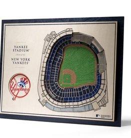 YOU THE FAN New York Yankees 5-Layer 3D Stadium Wall Art