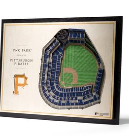 YOU THE FAN Pittsburgh Pirates 5-Layer 3D Stadium Wall Art