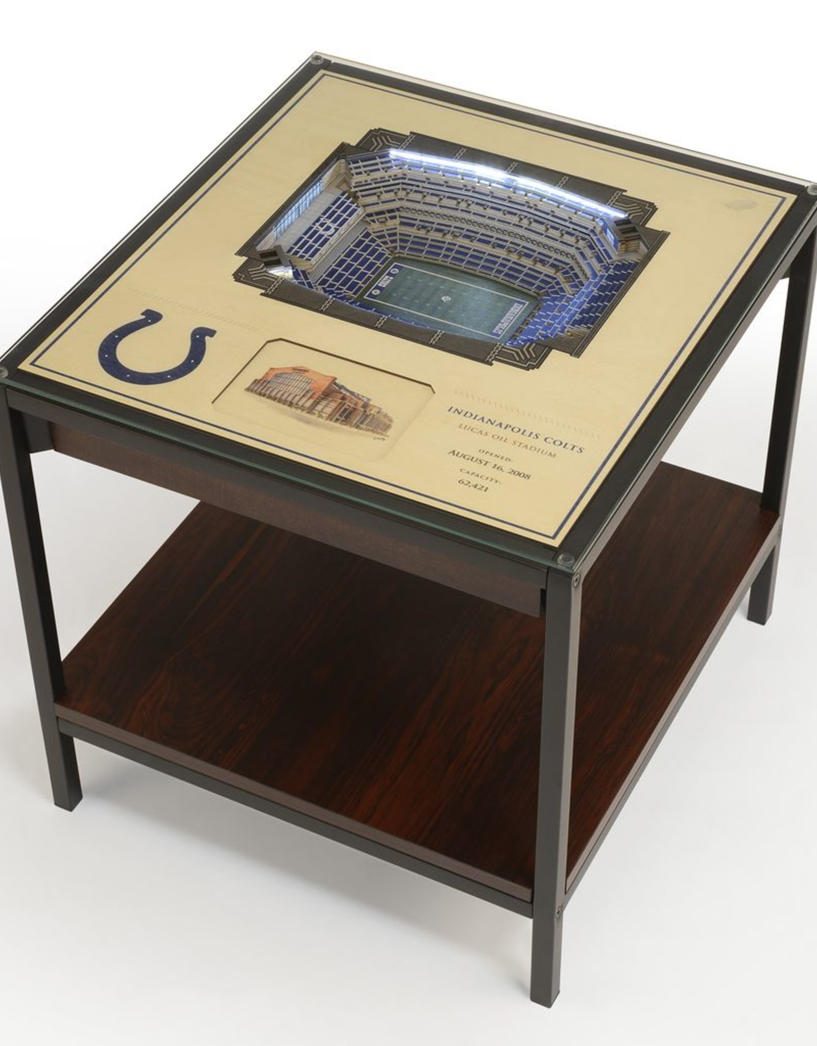 YOU THE FAN Indianapolis Colts LED Lighted Stadium View End Table