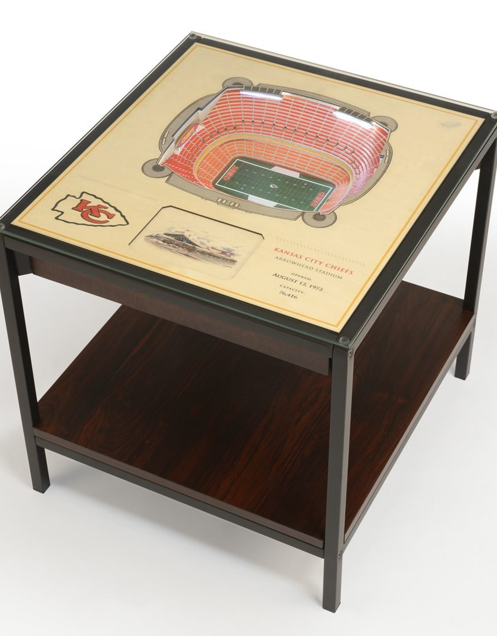 YOU THE FAN Kansas City Chiefs LED Lighted Stadium View End Table