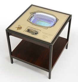 YOU THE FAN Minnesota Vikings LED Lighted Stadium View End Table