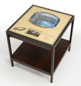 YOU THE FAN Philadelphia Eagles LED Lighted Stadium View End Table
