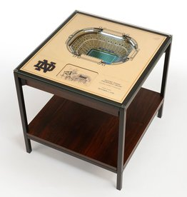 YOU THE FAN Notre Dame Fighting Irish LED Lighted Stadium View End Table