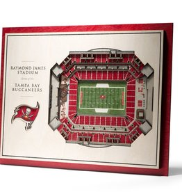 YOU THE FAN Tampa Bay Buccaneers 5-Layer 3D Stadium Wall Art