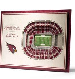 YOU THE FAN Arizona Cardinals 5-Layer 3D Stadium Wall Art