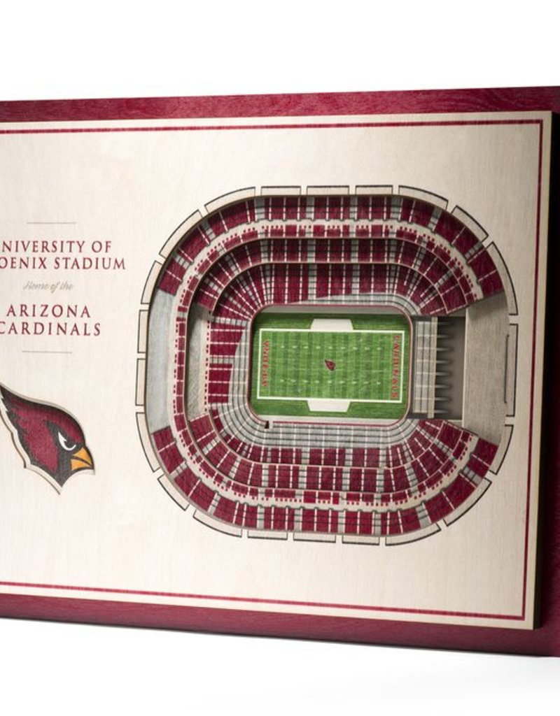 YOU THE FAN Arizona Cardinals 5-Layer 3D Stadium Wall Art