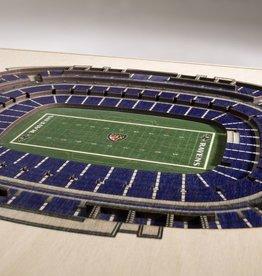 YOU THE FAN Baltimore Ravens 5-Layer 3D Stadium Wall Art