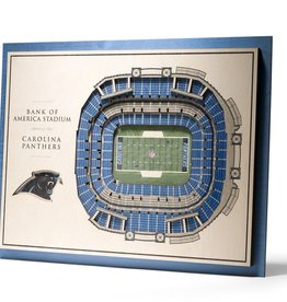 YOU THE FAN Carolina Panthers 5-Layer 3D Stadium Wall Art