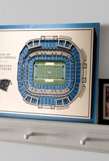 YOU THE FAN Carolina Panthers 5-Layer 3D Stadium Wall Art