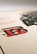 YOU THE FAN Cincinnati Bengals 5-Layer 3D Stadium Wall Art