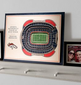 YOU THE FAN Denver Broncos 5-Layer 3D Stadium Wall Art