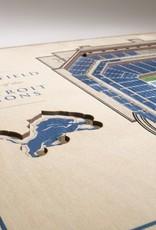 YOU THE FAN Detriot Lions 5-Layer 3D Stadium Wall Art
