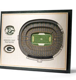 YOU THE FAN Green Bay Packers 5-Layer 3D Stadium Wall Art