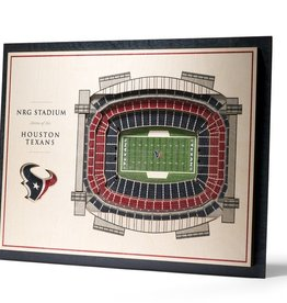 YOU THE FAN Houston Texans 5-Layer 3D Stadium Wall Art