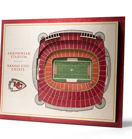 YOU THE FAN Kansas City Chiefs 5-Layer 3D Stadium Wall Art