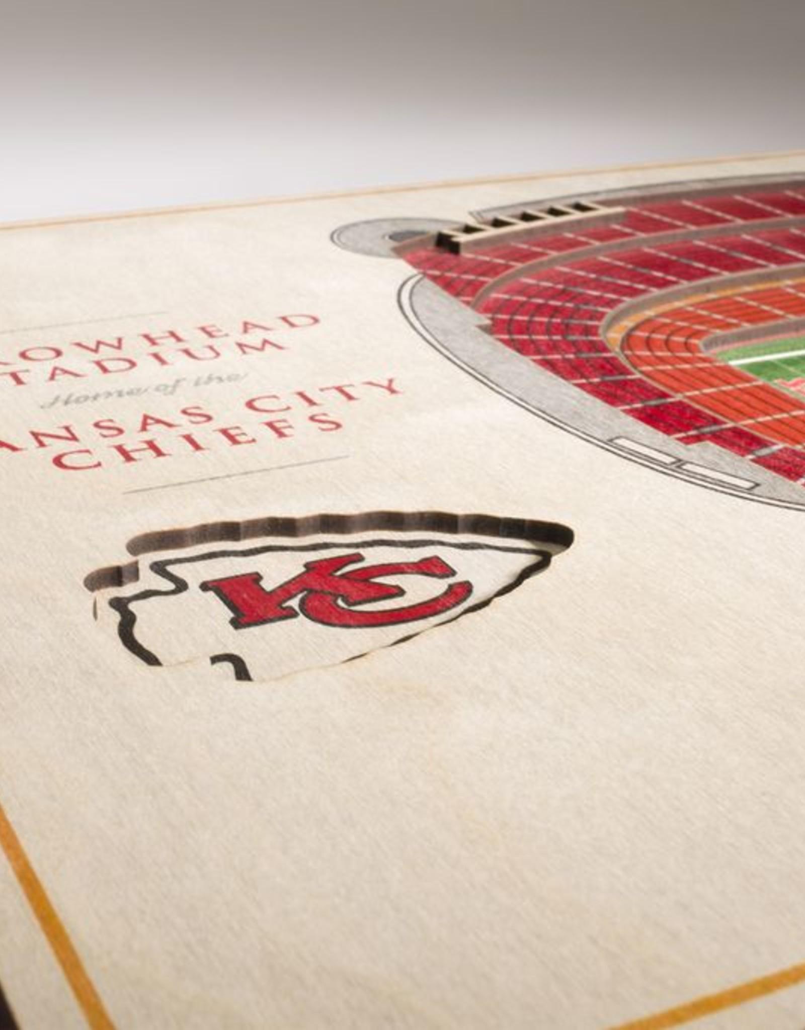 YOU THE FAN Kansas City Chiefs 5-Layer 3D Stadium Wall Art