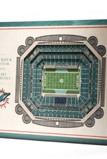 YOU THE FAN Miami Dolphins 5-Layer 3D Stadium Wall Art
