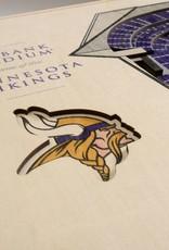YOU THE FAN Minnesota Vikings 5-Layer 3D Stadium Wall Art