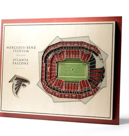 YOU THE FAN Atlanta Falcons 5-Layer 3D Stadium Wall Art