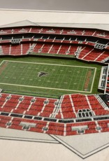 YOU THE FAN Atlanta Falcons 5-Layer 3D Stadium Wall Art