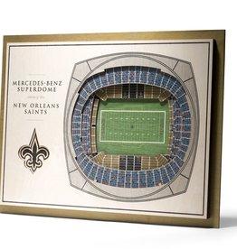 YOU THE FAN New Orleans Saints 5-Layer 3D Stadium Wall Art