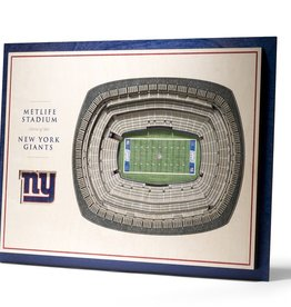 YOU THE FAN New York Giants 5-Layer 3D Stadium Wall Art