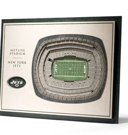 YOU THE FAN New York Jets 5-Layer 3D Stadium Wall Art
