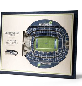 YOU THE FAN Seattle Seahawks 5-Layer 3D Stadium Wall Art