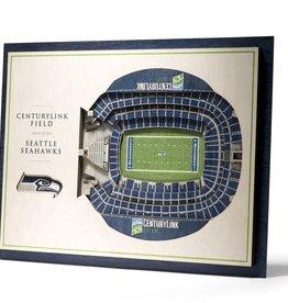 YOU THE FAN Seattle Seahawks 5-Layer 3D Stadium Wall Art