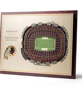YOU THE FAN Washington Redskins 5-Layer 3D Stadium Wall Art