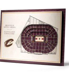 YOU THE FAN Cleveland Cavaliers 5-Layer 3D Stadium Wall Art