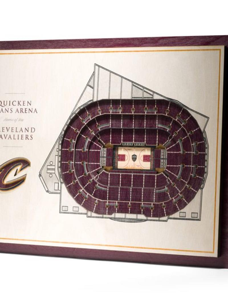 You The Fan Cleveland Cavaliers 5 Layer 3d Stadium Wall Art