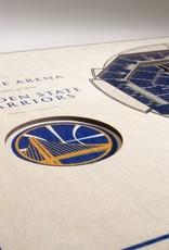 YOU THE FAN Golden State Warriors 5-Layer 3D Stadium Wall Art